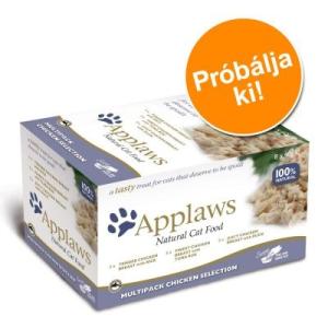 Applaws Cat Pot variációk, 8 x 60 g próbacsomag - Csirkehúsos változat