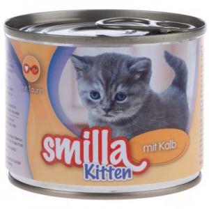 Smilla Kitten 6 x 200 g - Borjúhússal