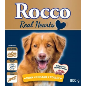 Rocco Akciós csomag: Rocco Real Hearts 24 x 800 g - 12 x marha + 12 x csirke
