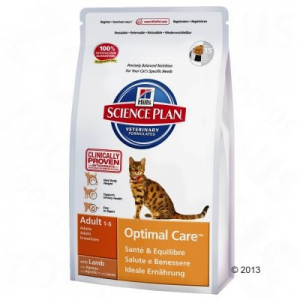 Hill's Feline Adult Optimal Care bárányhúsos - 10 kg