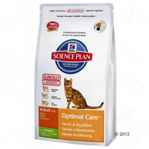 Hill's Feline Adult Optimal Care nyúlhúsos - 2 x 10 kg