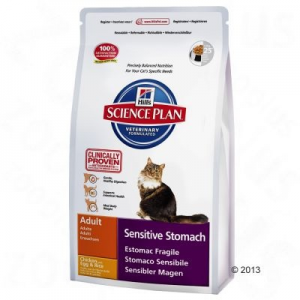 Hill's Feline Adult Sensitive Stomach csirkés - 1,5 kg