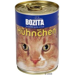 Bozita konzerv macskaeledel 6 x 410 g - Csirkehúsos