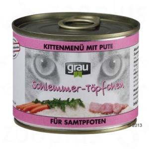 Grau Gourmet kiscicáknak pulykahúsos, sárgarépás - 6 x 200 g