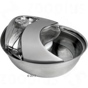 Zooplus Esőcsepp alakú itatókút rozsdamentes acélból - Itató 1,7 liter