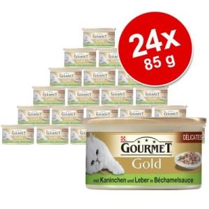 Purina Gold szószos ínyencség 24 x 85 g - Marha- és csirkehús paradicsomszószban