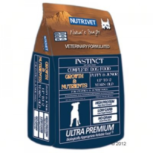 Nutrivet Instinct Growth & Nutrients kutyatáp - 2 x 12 kg