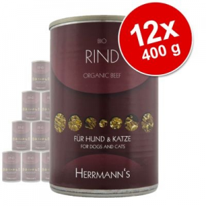herrmanns óriáscsomag 12 x 400 g - biohús: marha