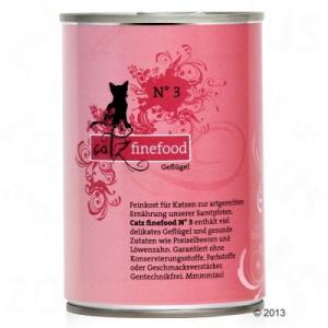 catz finefood 6 x 400 g - nedves macskatáp - Szárnyas