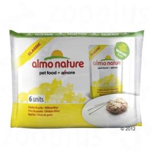 Almo Nature Classic 6 x 55 g - csirkefilé