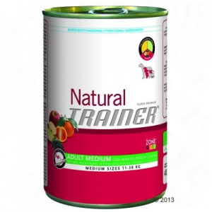 Trainer Natural Adult Medium 6 x 400 g - Marhahús, rizs & ginzeng