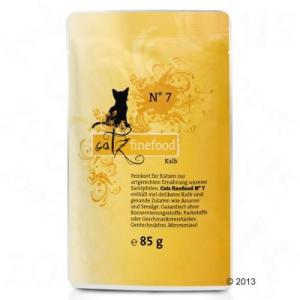 catz finefood 8 x 85 g - tasakos macskatáp - Lazac és szárnyas