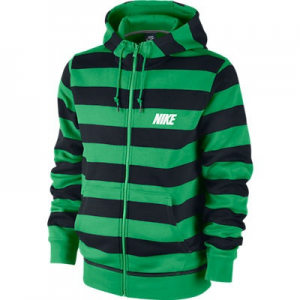Nike CLUB FZ HOODY-STRIPE