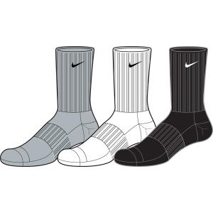 Nike NEW 3PPK CTN HALF CUSH CR SMLX