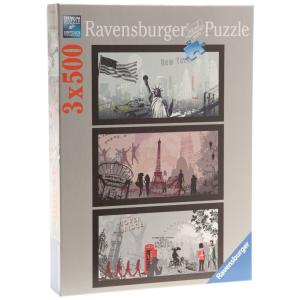 Ravensburger Ravensburger 1500 db-os puzzle - Művészi városok (16288)
