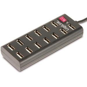 LogiLink 13 portos USB2.0 HUB ki/be kapcsolóval, táppal UA0126