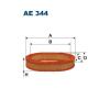 Filtron levegőszűrő AE344 1db