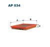 Filtron levegőszűrő AP034 1db levegőszűrő