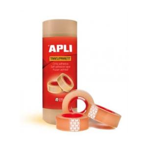 "APLI Ragasztószalag, 19 mm 33 m, APLI ""Transparent"", á"