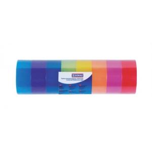 DONAU Ragasztószalag, 18 mm x 18 m, DONAU, vegyes színe