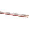 Leoni Iker hangszórókábel 2 x 1,5 mm² átlátszó, piros, méteráru, Leoni