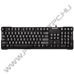A4Tech (KR-750) Vezetékes Office USB billentyűzet Fekete (Lekerekített gombok/káva nélküli)