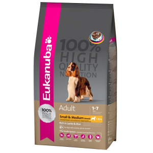 Eukanuba Adult Small & Medium Breeds rich in Lamb & Rice (2.5kg)