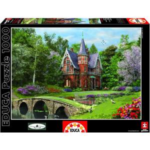 Educa Educa 1000 db-os puzzle - Vendégház macskaköves híddal - Davison (15519)
