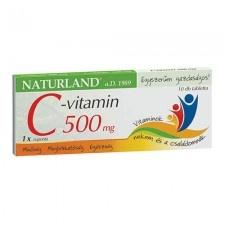 Naturland 500 mg C-vitamin tabletta 10 db vitamin