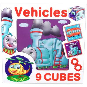 Dohány Járművek 9 db-os kocka puzzle