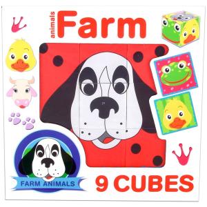 Dohány Toys and Games Háziállatok 9 db-os kocka puzzle