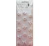 Rössler Papier GmbH and Co. KG Rössler matrica  kézzelkészített  esküvői/ fehér virágok  pillangók (6 lap/csomag) matrica