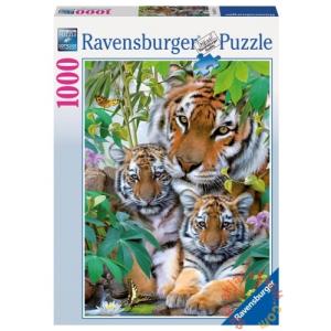 Ravensburger 1000 db-os puzzle - Tigriscsalád (19117)