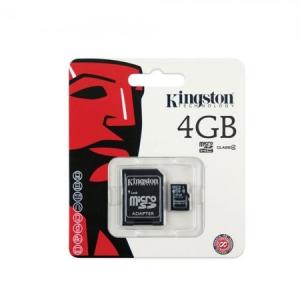 Kingston 4GB SD micro (SDHC Class 4) (SDC4/4GB) memória kártya adapterrel