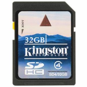 Kingston 32GB SD (SDHC Class 4) (SD4/32GB) memória kártya