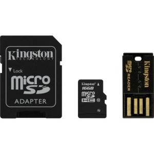 Kingston 16GB SD micro (SDHC Class 10) (MBLY10G2/16GB) memória kártya adapterrel