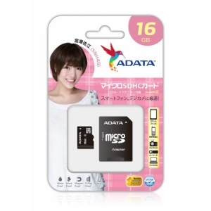 ADATA 16GB SD micro (SDHC Class 4) (AUSDH16GCL4-RA1) memória kártya adapterrel