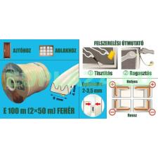 Ablakszigetelő, ajtószigetelő, öntapadó tömítőprofil, E, fehér, 9 x 4 mm x 100 m barkácsolás, csiszolás, rögzítés