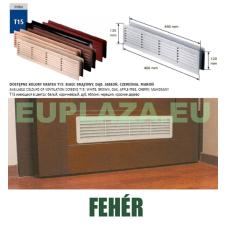 Szellőzőrács, ajtóhoz, T15k113, műanyag, fehér, 460 x 135 mm barkácsolás, csiszolás, rögzítés