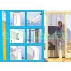 Szúnyogháló, ajtóra, szalagfüggöny, 100cm széles öntapadó felső sínnel, 4db nehezékkel, antracit, 220 x 28,5cm x 4db