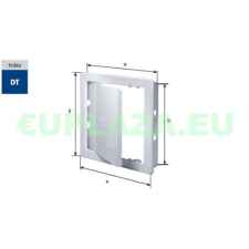 Szerelőajtó, DT18, ellenőrző ajtó, műanyag, fehér, 250 x 300 mm barkácsolás, csiszolás, rögzítés