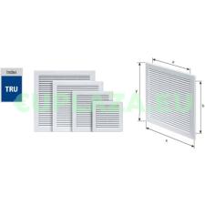 Szellőzőrács, TRU-10, szúnyoghálóval, csavarozható, ragasztható, műanyag, 300 x 300 mm barkácsolás, csiszolás, rögzítés