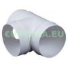 T-idom, KO100-26, kör keresztmetszetű légcsatornához, műanyag, átmérő 100 mm