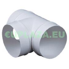 T-idom, KO100-26, kör keresztmetszetű légcsatornához, műanyag, átmérő 100 mm barkácsolás, csiszolás, rögzítés