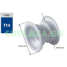 Szellőző, ajtóhoz, T14k50E, kerek, műanyag, barna, átmérő 25 mm, 4 db/csomag barkácsolás, csiszolás, rögzítés