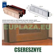 Szellőzőrács, ajtóhoz, T15k112, műanyag, cseresznye, 460 x 135 mm barkácsolás, csiszolás, rögzítés