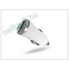 USB micro szivargyújtó töltő adapter - 5V/1A - fehér mobiltelefon kellék