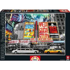 Educa Educa 4000 db-os puzzle - Színházi jelek - New York (16021)