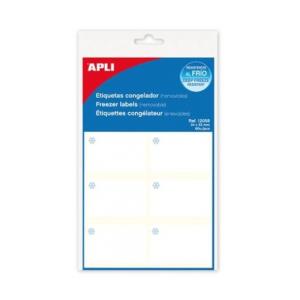 APLI Etikett, 34x53 mm, fagyasztható, kerekített sarkú