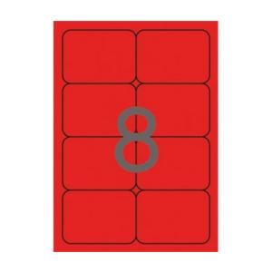 APLI Etikett, 99,1x67,7 mm, színes, kerekített sarkú,